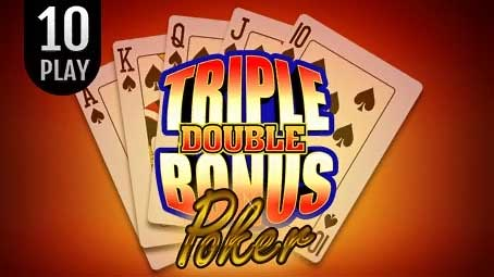 Triple Double Bonus Poker 10 Play
